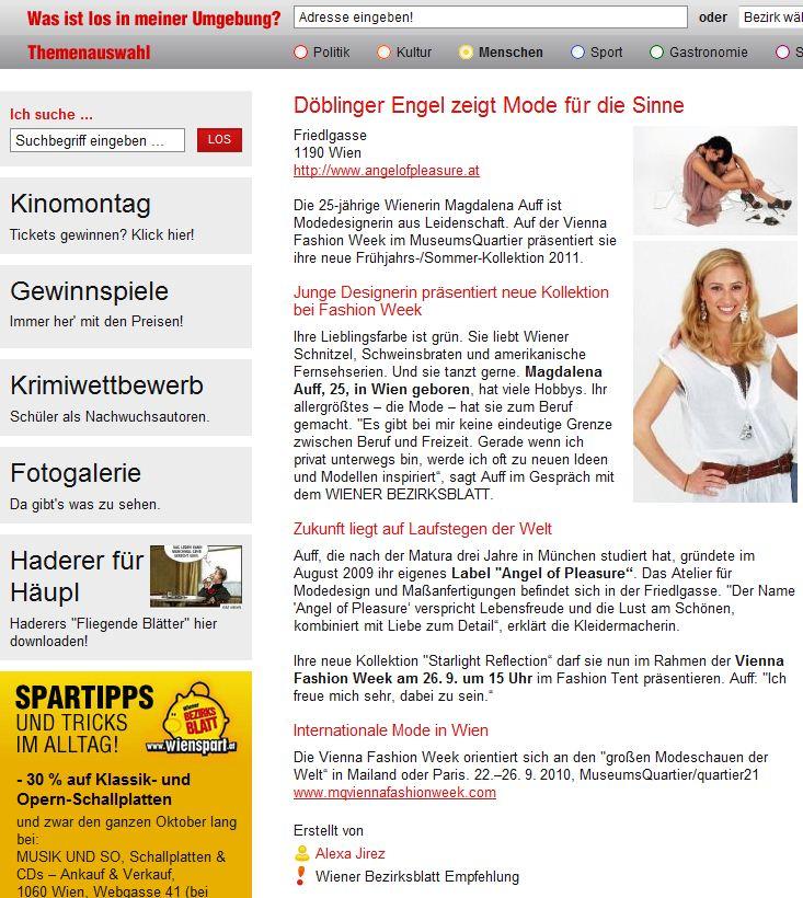 Bezirksblatt, 21.9.2010