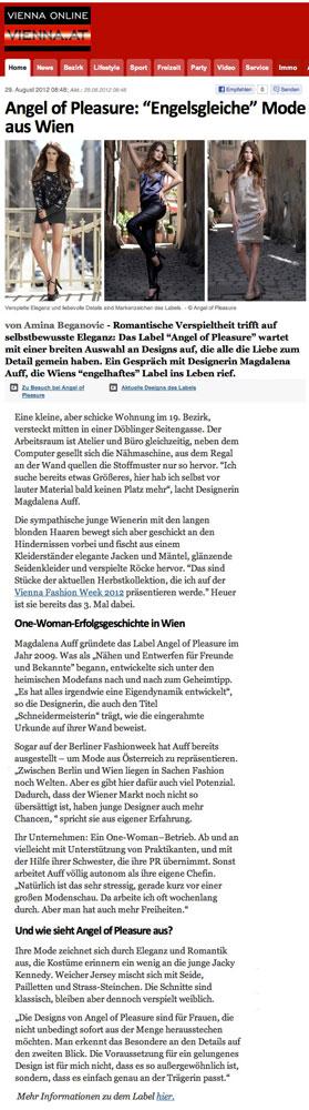 Vienna Online, 29.8.2012