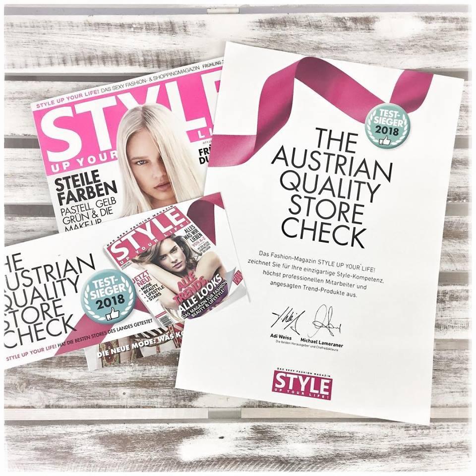 Testsieger 2018 beim Austrian Quality Store Check
