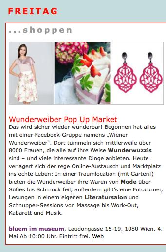 Modeschau am Wiener Wunderweiber Markt